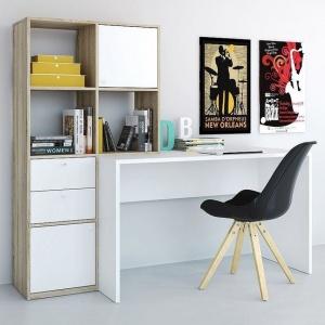 Mẫu bàn học gỗ MDF kèm tủ sách - VH 7